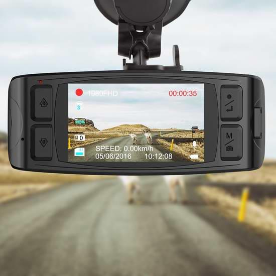 升级版 AUTO-VOX D1 2.7英寸1080P全高清超大广角GPS行车记录仪 99.99-109.99加元包邮!送32GB闪存卡!再送价值35.99加元倒车摄像头!