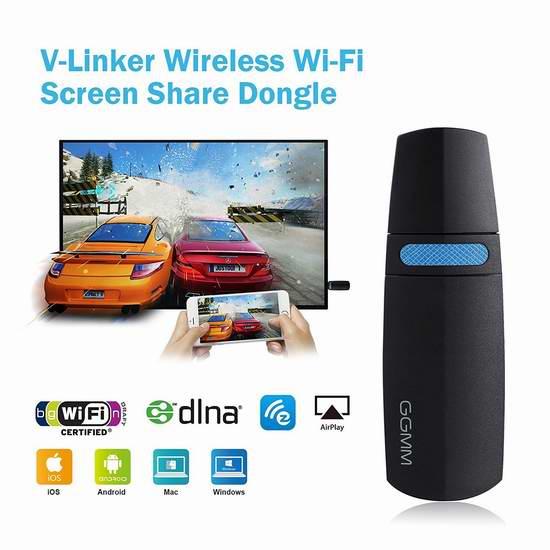 GGMM V-Linker 5GHz HDMI 无线Wi-Fi同屏分享器 25.49-29.74加元限时特卖!