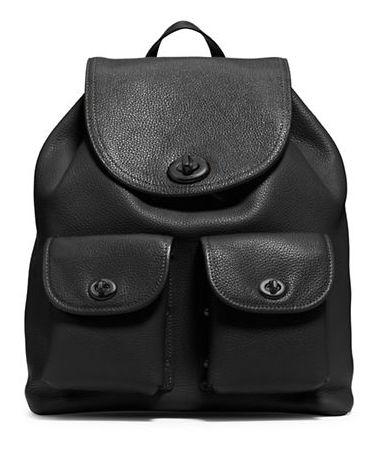 COACH Turnlock 女式时尚真皮双肩背包5.6折 274.39元限时特卖并包邮!
