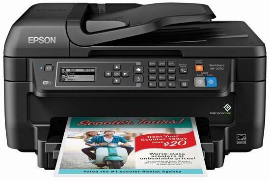 历史最低价!Epson 爱普生 Workforce WF-2750 无线多功能彩色喷墨一体打印机 59.99加元包邮!