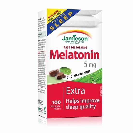 滋补调养 改善睡眠!Jamieson 健美生 Melatonin 褪黑素速效片5毫克 x 100片 6.2折7.97元限时特卖!