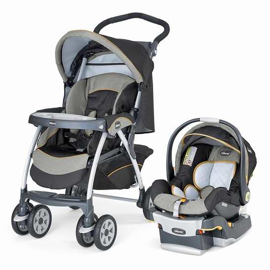 历史新低!宝宝成长御用座驾!Chicco 智高 Cortina KF30 婴儿推车提篮安全座椅旅行套装6折 319.97元限时特卖并包邮!