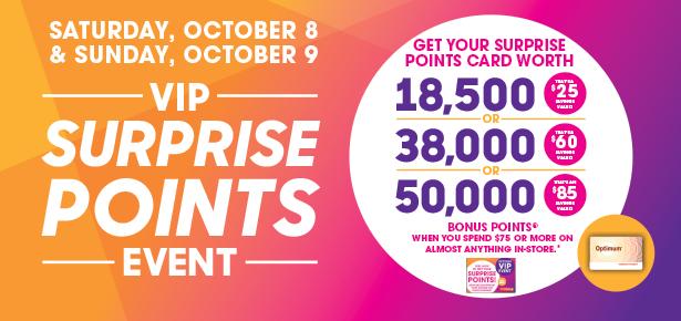 Shoppers Drug Mart 本周六到周日(10月8日-9日)持积分卡购物满75元送价值25-85元积分