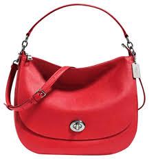 速抢!COACH Turnlock 红色女款手提/单肩包3折 120元限时特卖并包邮!