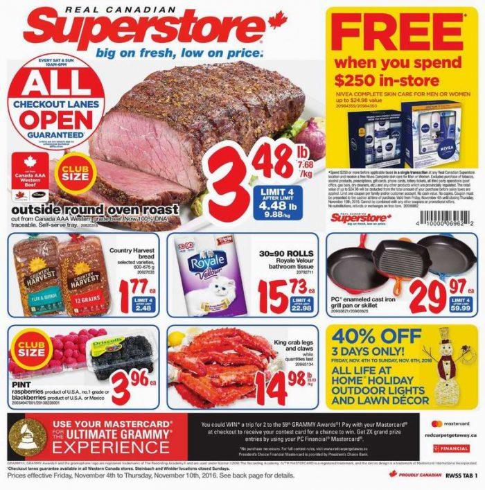 Superstore超市本周(2016.11.4-2016.11.10)打折海报