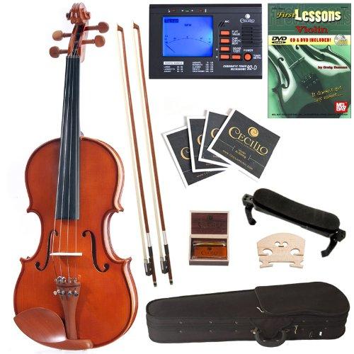 Cecilio CVN-200  全尺寸实木小提琴+调谐器+课本套装 173.01元,原价 287.99元,包邮