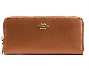 白菜价!COACH Leather钱包(Brown色) 60元,原价 160元
