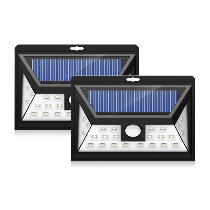 历史新低!Mpow 24 LED 太阳能防水运动感应灯2件套3.7折 21.99加元清仓!