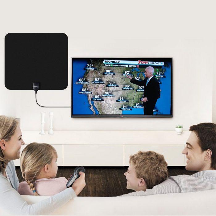 Pictek 室内超薄灵敏1080P数字高清电视天线 25.59元限量特卖,原价 31.99元!黑白两色可选!