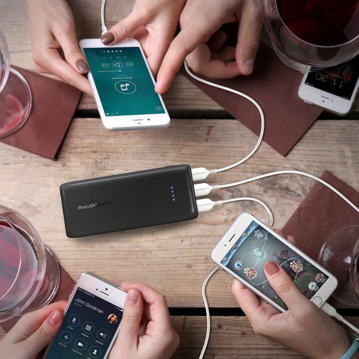 RAVPower 睿能宝 22000mAh 便携式移动电源充电宝 31.99加元限时特卖!两色可选!