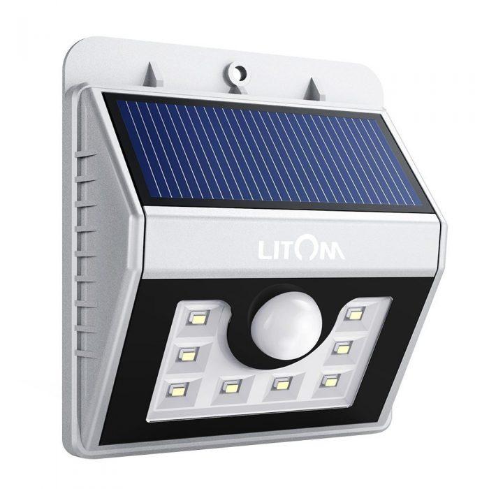 Litom 超亮8 LED 太阳能照明灯 16.99元限量特卖,原价 25.99元