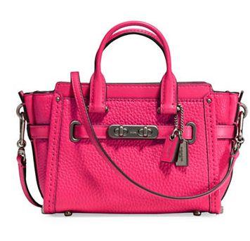 COACH Swagger 15 女士时尚真皮单肩/手提包 210元(5色),原价 300元,包邮