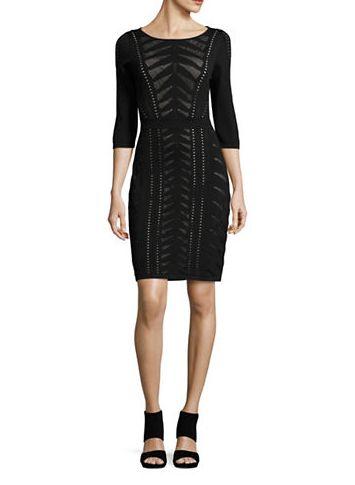 CALVIN KLEIN Eyelet 三分袖连衣裙 89.99元,原价 179元