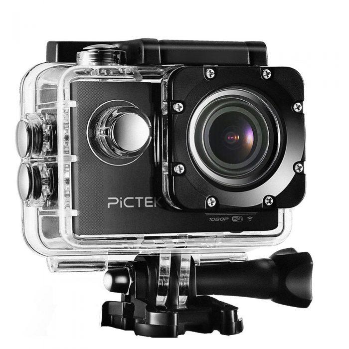 Pictek 12MP 1080p 全高清 WiFi无线运动摄像机 67.99加元限量特卖,原价 95.99加元,包邮