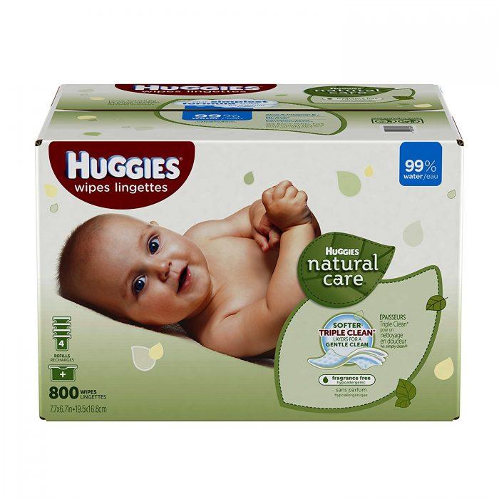 Huggies天然无香型婴儿湿巾 800张 16.79元限量特卖,原价 23.99元