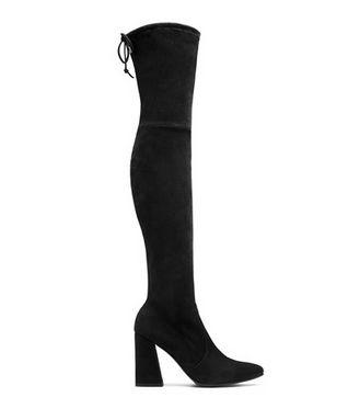 Stuart Weitzman HISTREET女款黑色过膝靴 599元,原价 998元,包邮