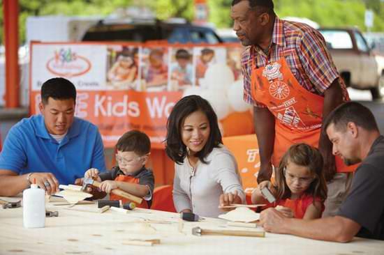 Home Depot 11月12日、26日免费儿童手工课,制作直升机模型和圣诞装饰相框,11月另有3个家庭装修免费课程!