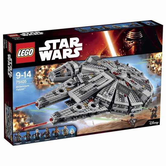历史新低!LEGO 乐高 星球大战系列 75105 千年隼(1329pcs) 134.97加元包邮!