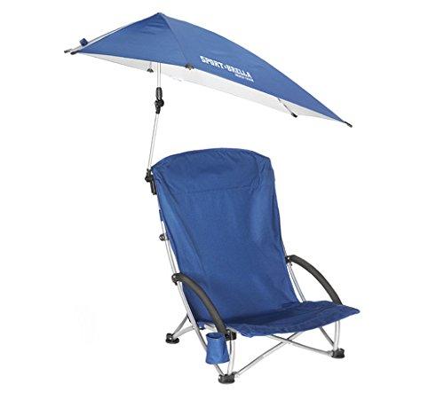 历史最低价!Sport-Brella 折叠式户外沙滩椅+遮阳伞套装5.5折 39.99元限时特卖并包邮!