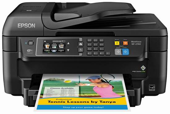 历史最低价!Epson 爱普生 Workforce WF-2760 无线多功能彩色喷墨一体打印机4.5折 59.94加元包邮!