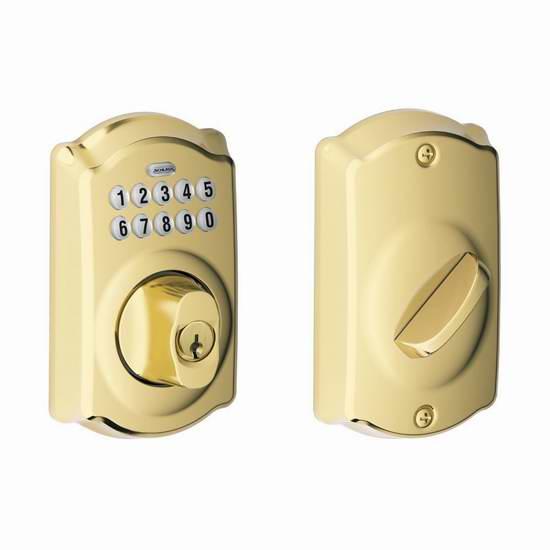 历史新低!热销款 Schlage 西勒奇 电子密码门锁5折 89.99元限时特卖并包邮!