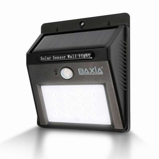 BAXIA TECHNOLOGY 太阳能防水运动感应灯 10.99元限量特卖!