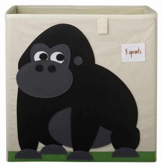 3 Sprouts 大猩猩卡通主题收纳盒3.6折 7.99元限时特卖!