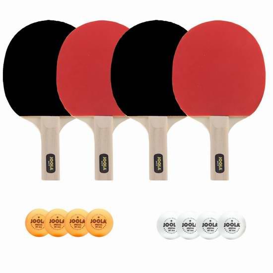 历史新低!JOOLA 59152 Hit 娱乐级乒乓球拍(4+8)套装6.7折 29.99元限时特卖!