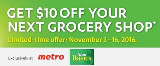 安省 Food Basics 及 Metro 指定店面兑换40元硬币,送10元超市抵用券!