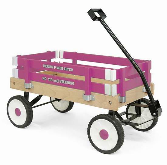 Berlin F257 Amish-Made Pee-Wee Flyer 实木儿童拖车5.7折 122.84元限量特卖并包邮!