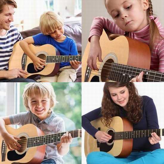 历史新低!售价大降!Spectrum AIL 36K 学生专用36英寸木制专业吉他套装3.2折 32元限时清仓!
