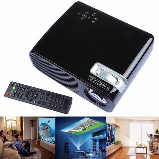 Yuntab BL20 便携式2600流明迷你3D家庭影院投影仪 181.04加元限量特卖并包邮!