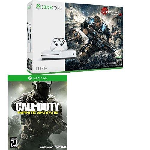 历史新低!Xbox One 1TB 家庭娱乐游戏机 + 《战争机器4》超值套装 379.96元限时特卖并包邮!