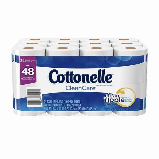 Cottonelle Clean Care 24卷双层超软卫生纸 9.48-9.98加元限时特卖!