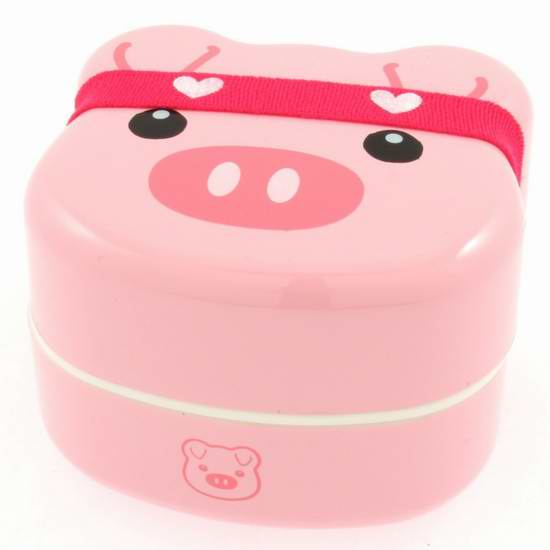 历史新低!Kotobuki 280-159 超萌小猪儿童双层饭盒/日式便当盒 20.11元限时特卖!