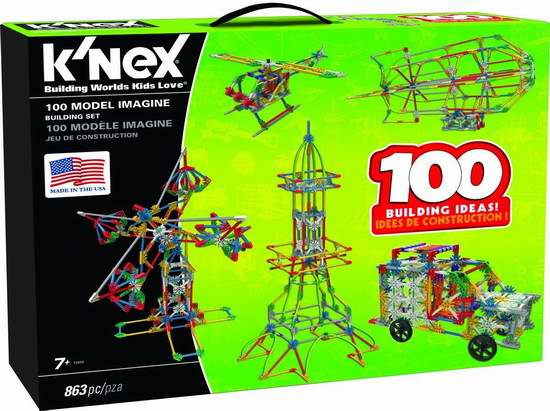 Knex 100模型拼接玩具套装 49.99加元,原价 65加元,包邮