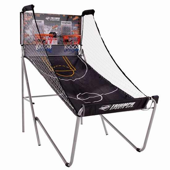 历史新低!Triumph Sports Pop Shot 折叠式双人电子投篮机4.2折 99.99元限时特卖并包邮!