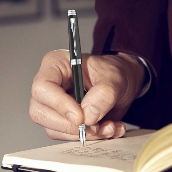 售价大降!历史新低!PARKER 派克 S0887860 首席 纯黑丽雅白夹墨水笔