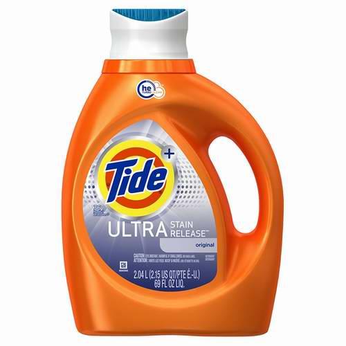 历史新低!Tide 汰渍 Ultra Stain Release HE 2.04升超强去渍洗衣液6.1折 7.49-7.88元限时特卖!