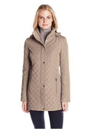 Calvin Klein 女士经典钻石绗缝连帽修身外套2.4折 65.53-66.97元限时清仓并包邮!