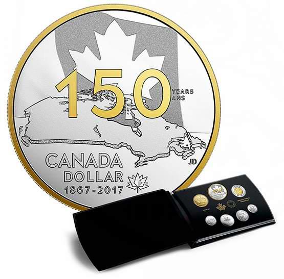 2017加拿大国庆150周年纯银纪念币《我们的家园和土地》7件套 229.95元销售并包邮!