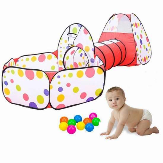KINDEN 三合一儿童隧道游戏屋套装 33.54加元限量特卖并包邮!