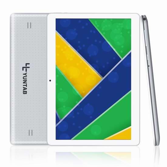 Yuntab K107 10.1英寸解锁版2G/3G双卡双待平板手机 84.79元限量特卖并包邮!