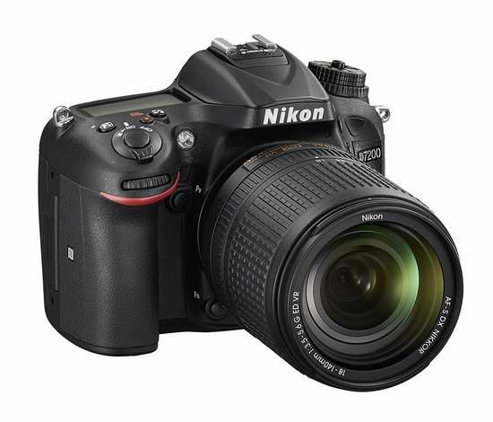 NIKON D7200 单反套机 1349.99加元特卖(AF-S DX 尼克尔 18-140mm f/3.5-5.6G ED VR)!