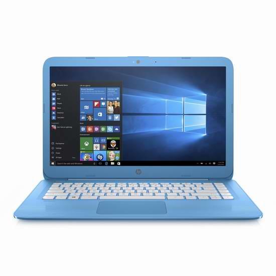 历史新低!HP 惠普 Stream 14英寸轻薄笔记本电脑立省100元,仅售249.99元包邮!