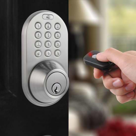 接近史低价!MiLocks QF-02SN 带遥控 电子密码门锁6.4折 101.92加元限时特卖并包邮!