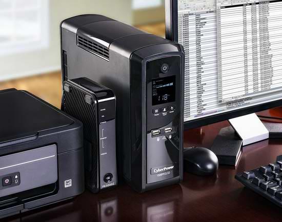 新低!网购周头条:CyberPower CP1500PFCLCD UPS 1500VA 900W 10插座不间断电源155.99加元,原价 298.98加元,包邮