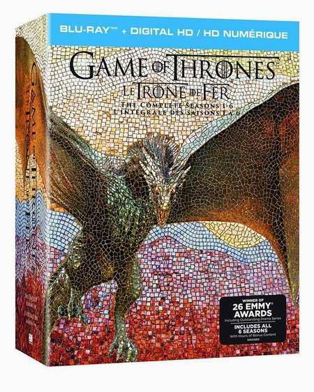 历史新低!网购周头条:Game of Thrones 《权利的游戏》1-6季蓝光影碟礼盒装6折 119.99元限时特卖并包邮!