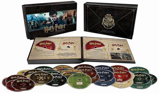 Harry Potter Hogwarts 哈利波特 霍格沃茨 毕业纪念珍藏版(蓝光+DVD+UltraViolet)3.1折 89.99元特卖
