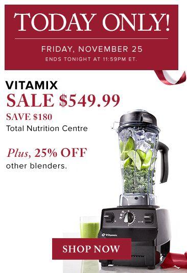 VITAMIX 全营养破壁料理机 立省180元,仅售549.99元包邮!